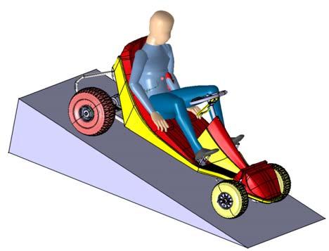 DEVALKART au repos, en position d'attente, sous l'effet du frein à bande.