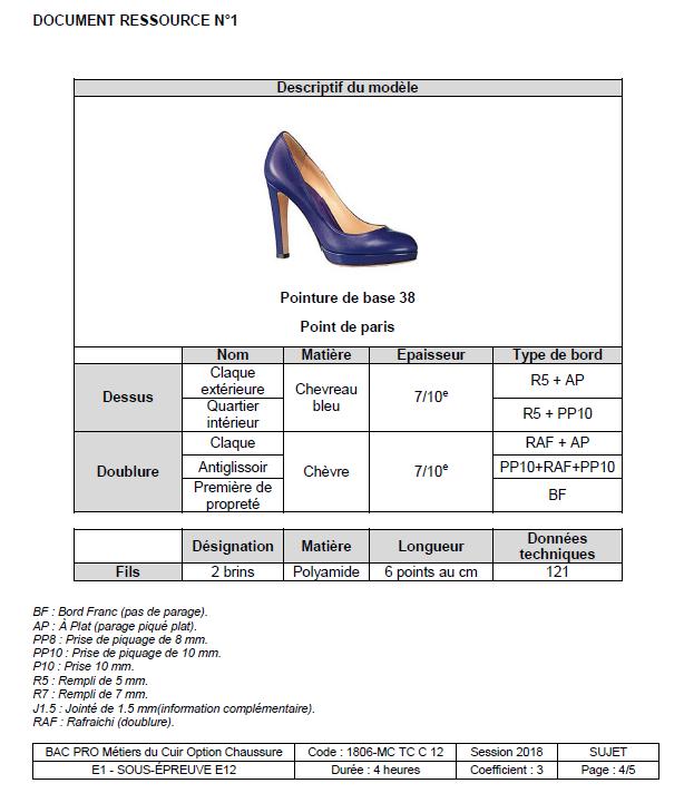 E12 - Conception, construction d un modèle en CAO - CHAUSSURE 2018 ... 565b3314b82