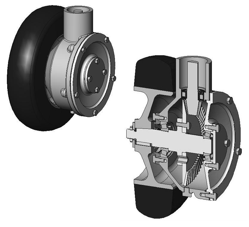 Vues 3D de la roue
