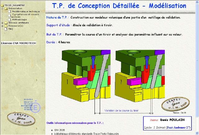 Exercice De Modélisation Sur Moule Tiroir Paramètre En Injection