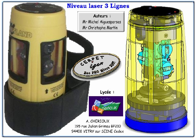 niveau laser 3 lignes maintenance en bac pro microtechniques duscol sti. Black Bedroom Furniture Sets. Home Design Ideas