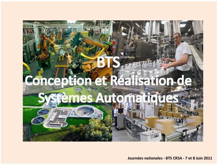 Seminaire Bts Conception Et Réalisation De Systèmes Automatiques