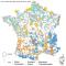 Puissance et localisation des installations de production d'électricité en France en 2019