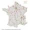 Carte des lignes 400 kV, 225 kV