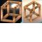 Cuboïde en version dimétrique (a) et isométrique (b)