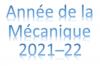 Année de la Mécanique 2021-2022