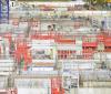 Voiles de béton sur le chantier de l'ENS Paris-Saclay