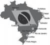 carte des stades Brésil