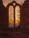 Caspar David Friedrich, Le Rêveur, 1835-1840, huile sur toile, 27x21cm