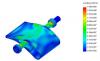 Simulation de la répartition des contraintes mécaniques sur l'injecteur