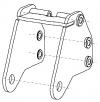 Biellette arrière du stand pour turboréacteur