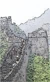 Grande Muraille de Chine, tour excentrée