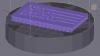 Positionnement de l'assemblage 'structure lattice-plaque logo' sur le plateau