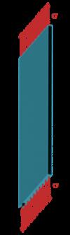 Schématisation des contraintes thermiques longitudinales dans un matériau