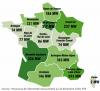 Puissance des bioénergies installée par région en France au 31 décembre 2019