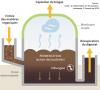 Schéma du fonctionnement d'un méthaniseur par voie humide