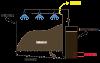 Schéma du fonctionnement d'un méthaniseur par voie sèche