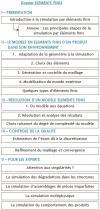 Structure Dossier Eléments Finis