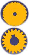 Comparaison de dentures de même diamètres primitifs et de modules différents