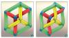 Cuboïde achevé, en vue isométrique (a) et en vue quelconque (b)