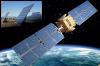 a) Panneaux solaires, La Calahorra, Grenade, Espagne b) Satellite en orbite autour de la Terre