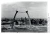 L'arc de Saint-Louis, Mississippi, lors de sa construction de 1963 à 1965