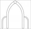 Un arc brisé avec des arcs-boutants