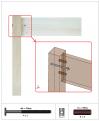 Photo de l'assemblage réel entre le montant vertical du lit et la traverse réalisé avec une vis et un écrou